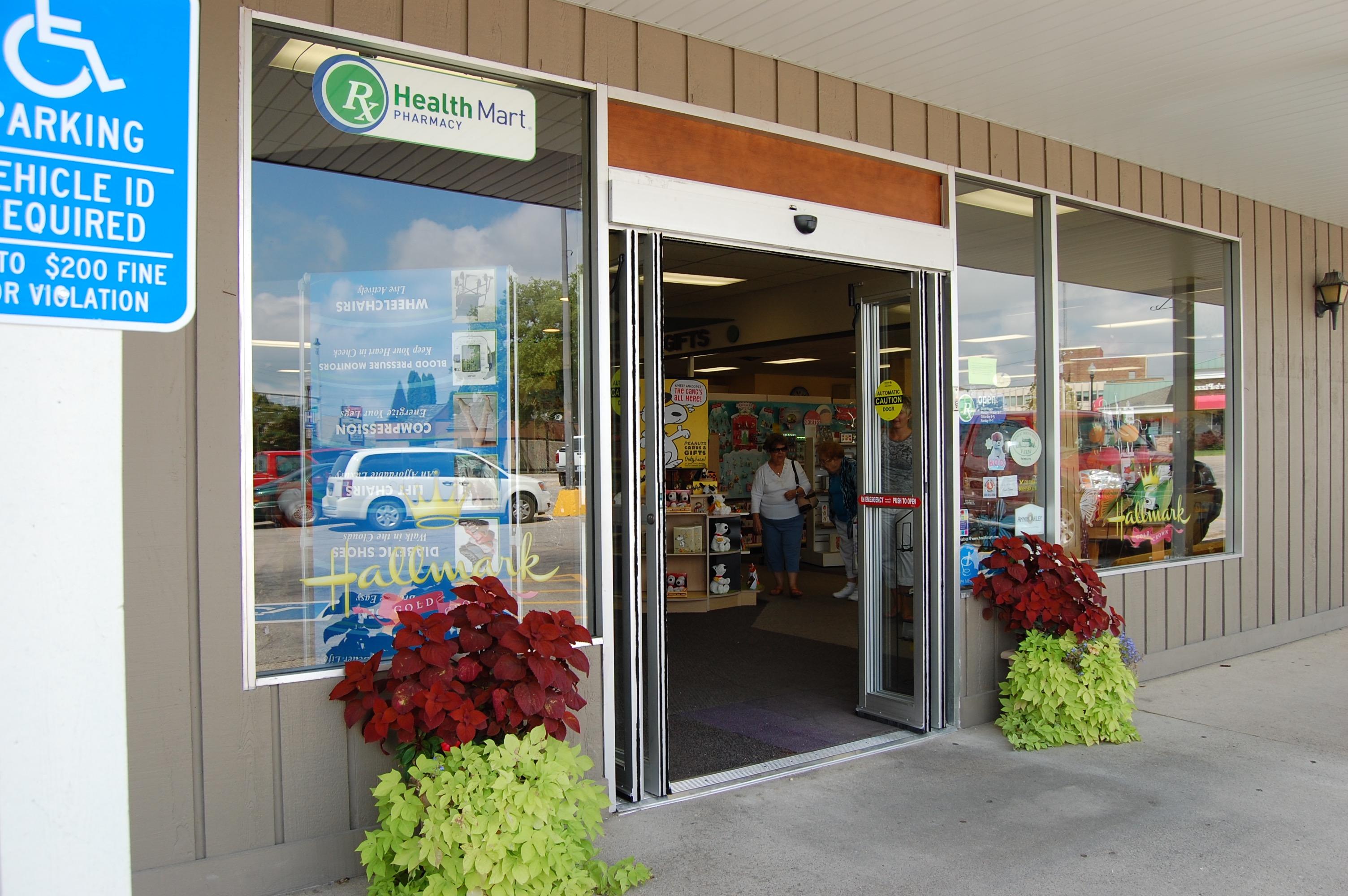 Front door of meyer pharmacy